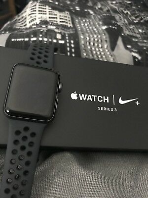Apple Watch Nike+ 38mm Space Grey Aluminium Case. Series 3
