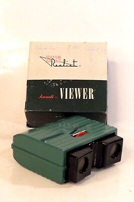 DAVID WHITE REALIST Handi STEREO VIEWER Model ST 63A For COLOR SLIDES w/ BOX
