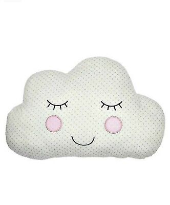 Sass and Belle Childrens Sweet Dreams Cloud Cushion - White with grey spots