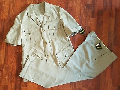 Deadstock Vintage 70s FREEDMAN Safari Suit