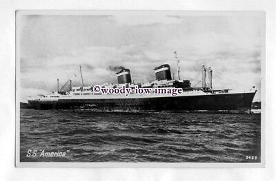 pf6714 - United States Lines Liner - America , built 1939 - postcard