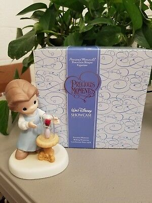 """Disney Precious Moments """"our Love Is Forever In Bloom"""" 930005 Beauty & The Beast"""