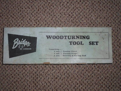 Wood Turning Lathe Chisels Set Vintage Tool Kits 3 piece