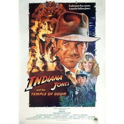 INDIANA JONES ET LE TEMPLE MAUDIT Affiche de film Style B 69x104 cm - 1984 - Ste