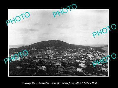 OLD LARGE HISTORIC PHOTO OF ALBANY WEST AUSTRALIA, VIEW OF THE TOWN c1900