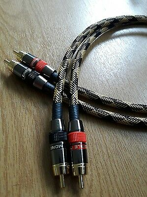 *HIFI Special* Monster/Europa RCA Phono Cable Black & Yellow braided 0.5m Pair