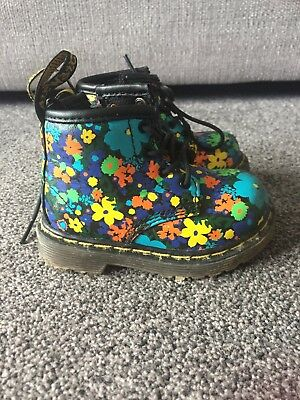 Bright and funky girls Doc Martins Air Wair - size 3 (infant)