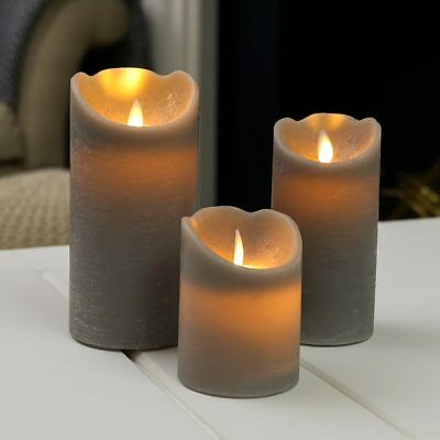 Battery Power Indoor Grey Flameless Flickering LED Candle Lights | Home Decor