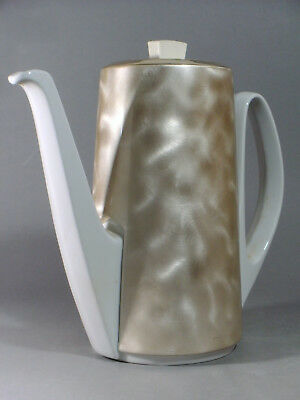 WMF/BAUSCHER WEIDEN 1950s COFFEE POT WITH SILVER PLATED  INSULATED COZY