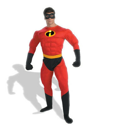 Adult Mr Incredible Fancy Dress Costume Muscle Superhero Costume