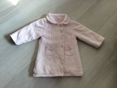 Girls Designer Emile Et Rose Knitted Coat Age 12 Months Good Condition