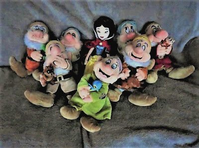 """Disney Snow White &the Seven Dwarfs Unusual Carrying Toy.19"""" & 15"""" Tall Soft Toy"""