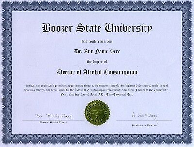 Doctor Stein Collecting Novelty Diploma BeerOctoberfest Gag Gift Joke