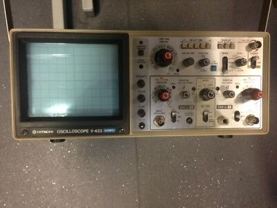 Hitachi V-423 40MHz Dual Channel Oscilloscope with Manual