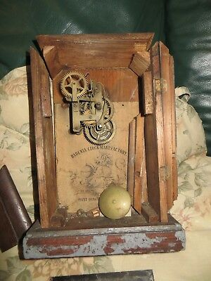 Badenia 30 hour mantel clock, good movement, case needing a rebuild.