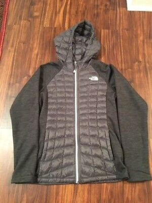 North Forth Girls Arcata ThermoBall Hoodie Jacket Graphite Gray Size L (14/16)