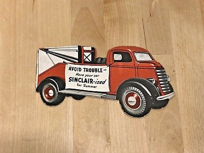 "Vintage ""Sinclair-ized"" Tow Truck Shaped Sinclair Gasoline Brochure 1960's"