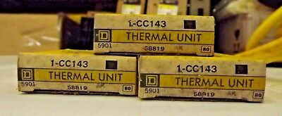 LOT OF 3....Square D CC 143 Thermal overload