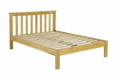 Birlea Suffolk Double Bed Frame Solid 135cm 4FT6 Pine Wood Shaker Style