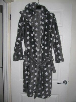 Boys MARKS & SPENCER Dressing Gown / Robe - GREY - Age 13-14 Yrs - GC - £1.99
