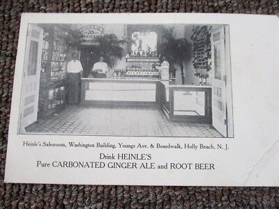 Early 1900s NEINLE'S GINGER ALE & ROOT BEER PHOTO POST CARD...New Jersey