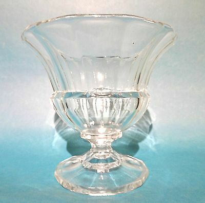 Elegant Stem Glass Cup Faceted Vase