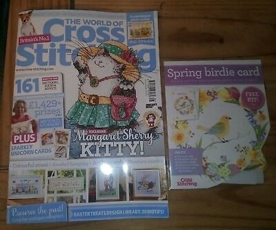 The World Of Cross Stitching Magazine Issue 266 April 2018 + FREE gift Kit NEW