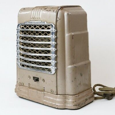 1947 Arvin Portable Heater Electric Noblitt-Sparks Industries Indiana Art Deco