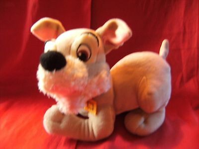 """SCAMP 11"""" approx DISNEY LADY AND THE TRAMP Soft Toy Plush Dog"""