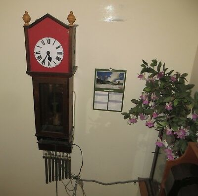 Very large Hipp's Toggle wall clock with separate electric quarter chime Working