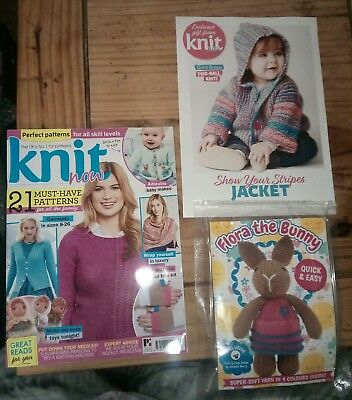 Knit Now Craft Magazine Issue 85. April 2018 + FREE gifts *NEW*
