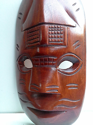 WOODEN MASK - Hand Carved # 17