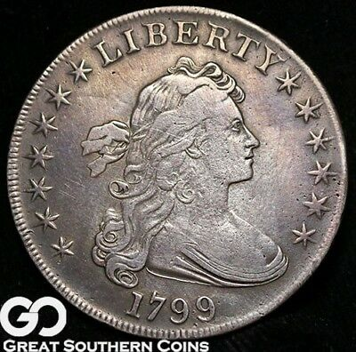 1799 Draped Bust Dollar, Tough Choice VF Early Silver Dollar ** Free Shipping!
