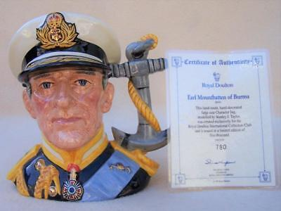 "Limited Royal Doulton "" Earl Mountbatten Of Burma "" Toby Jug D6944"