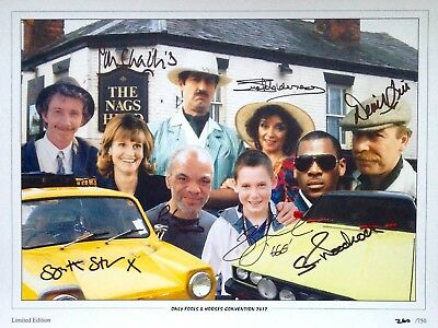 Only Fools And Horses Cast Signed By 7 16X12 Photo Aftal#198