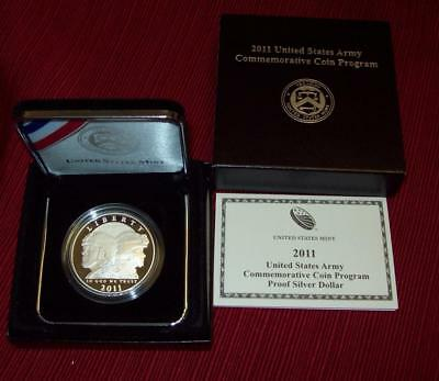 2011 P United States Army Proof Silver Dollar Commemorative .900 Silver  $1