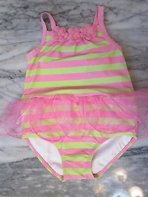 Gymboree Pink/Green Fairy Tulle Girls' One-Piece Swimsuit Size 3T - NWT!!!