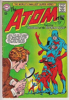 ATOM    V1 #11  VG+ / FN-  IN HIS OWN BOOK  12cts 1964   AMERICAN DC COMIC  A