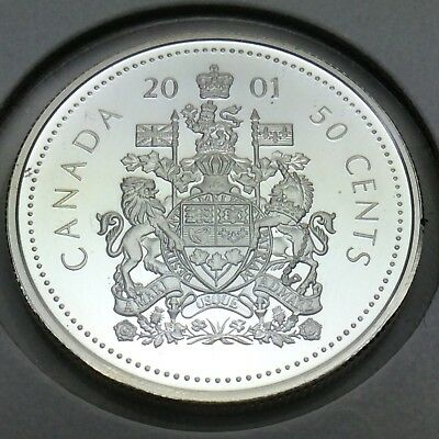 2001 Canada Proof Sterling 50 Fifty Cents Canadian Uncirculated Coin E215