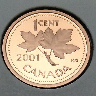 2001 Canada Proof 1 One Cents Penny Canadian Uncirculated Coin E219