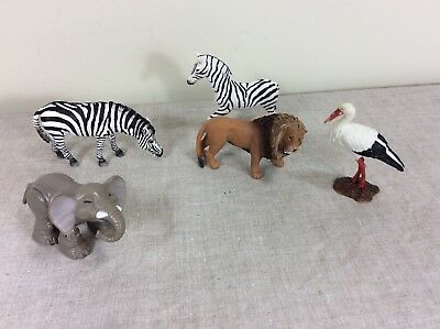 Schleich Lot Animals Toys Jungle Lion Zebra Bird Elephant Terra Battat Fisher