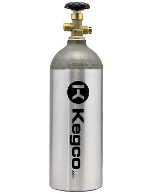 Kegco CO2 Aluminum Air Cylinder Tank Draft Beer Kegerator Welding Aquarium