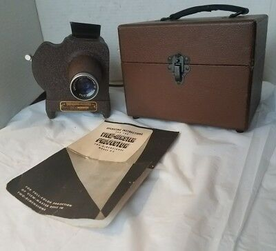 Vintage Sawyer's S-1 View Master Projector W/ Case & instructions 1947
