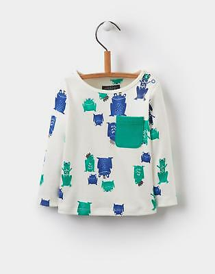 Joules Rufus Printed Jersey Top Shirt in Frog Prince Size 6min9m