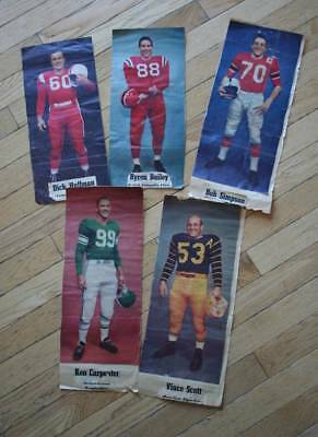 Lot of 5 1957 Weekend Magazine CFL Profile Pictures  Huffman, Bailey, Simpson