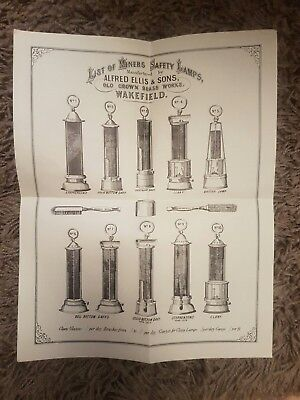 Miners safety lamps..Paper List of Miners Safety Lamps.