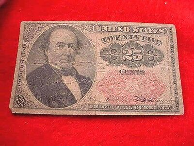 1874 25 Cents Fractional Currency Fifth Issue Nice Red Seal Note!!   #20