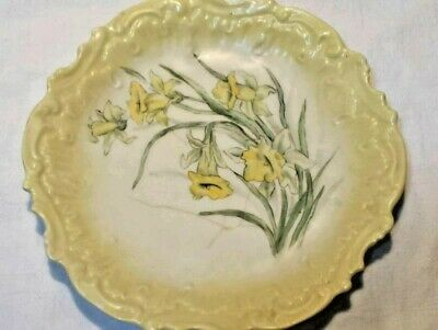 ANTIQUE  LIMOGES PLATE Yellow Daffodil