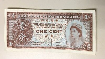 Government of hongkong one cent (ENDING LISTING SOON)