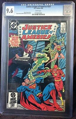 Justice League of America  #237   CGC  9.6!!!White Pages!!!